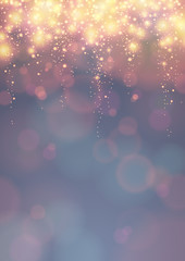festive background with descending lights, DIN format