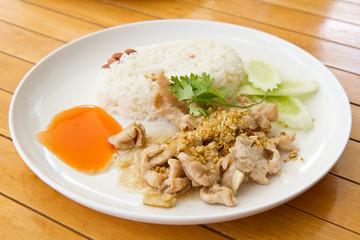 Shrimp paste Fried Rice Thailand food.