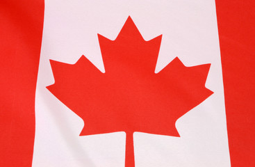 Canadian Maple Leaf red and white flag