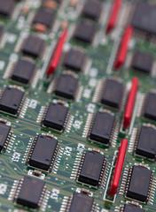 IC on green PCB