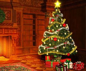 Home Christmas Backdrop