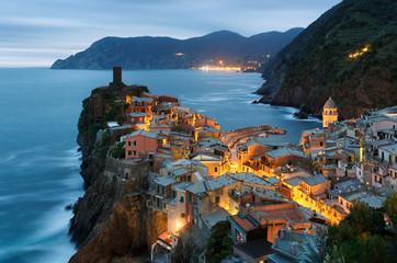 Photo sur Plexiglas Bleu jean Vernazza, Cinque Terre, Italie