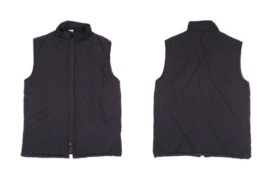 Gray working winter vest.
