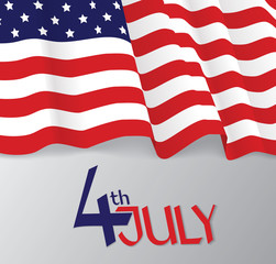 American flag, patriotic vector illustration