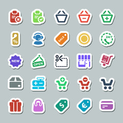 25 basic iconset shopping sticker