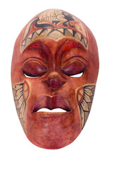 Close-up of a tribal mask