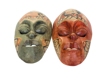 Close-up of two masks