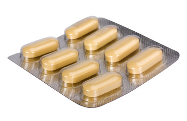 Close-up of tablets in a blister pack