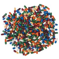 Close-up of assorted capsules