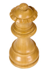 Close-up of a queen chess piece