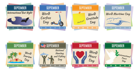 World holidays. September