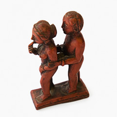 Sculpture of romantic couple