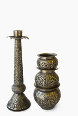 Close-up of antique objects