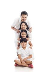 Portrait of a family having fun