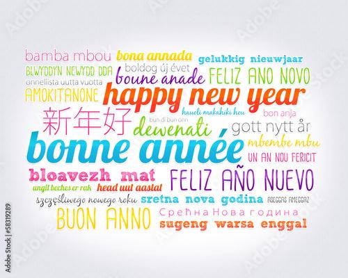 Bonne ann e dans toutes les langues photo libre de droits sur la banque d 39 images - Bonne annee dans toutes les langues ...