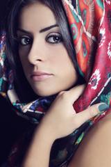 Portrait of mulatto girl