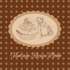 Vintage mouse and cake for your design