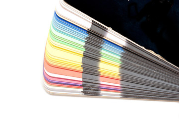 Color guide spectrum swatch samples rainbow on white background
