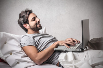 Typing in Bed