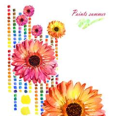 Watercolor Paints summer