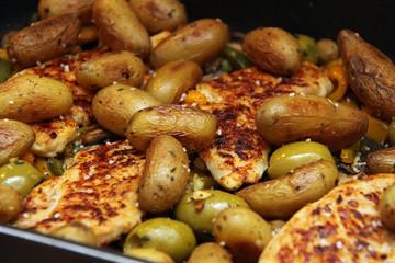 Backkartoffeln mit Hähnchen