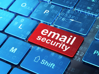 Security concept: Email Security on computer keyboard background