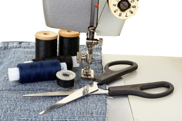 Sewing machine and threads