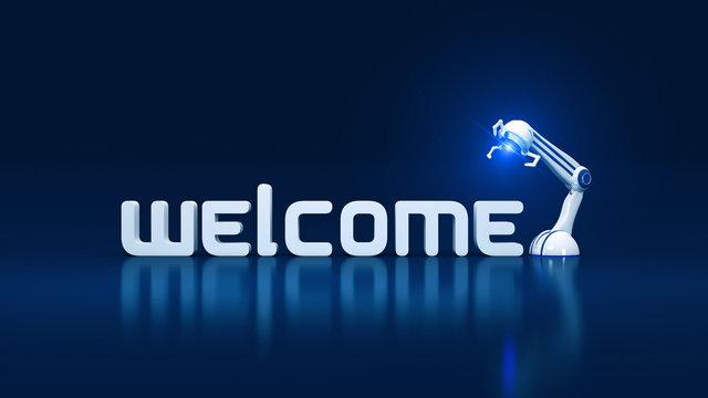 welcome robotic