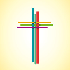 Vector logo Christ on the cross, easter