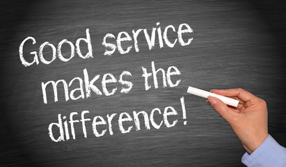 Good service makes the difference !