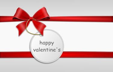 Schleife Schild - Valentine's