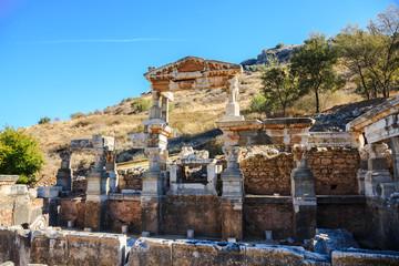 Fountain of emperor trajan in ephesus
