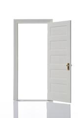 開いたミニチュアのドア