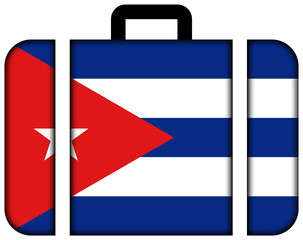 Suitcase with Cuba Flag