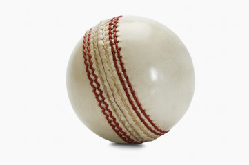 Close-up of a cricket ball