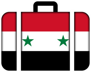 Suitcase with Syria Flag
