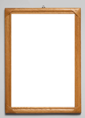 wooden frame with a white background