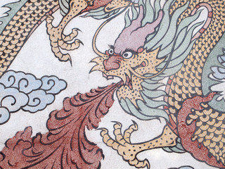 dragon shape form on wall