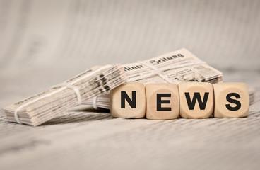 News Tageszeitungen Stapel