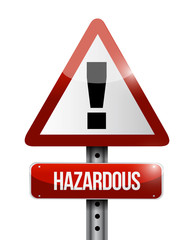hazardous warning road sign illustration design