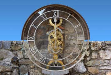 Transparent Water Clock in Pesariis, Italy
