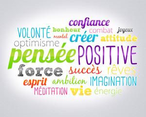 nuage de mots : pensée positive