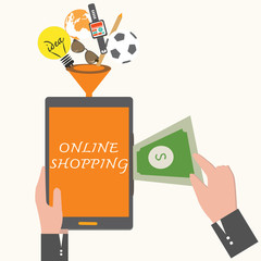 Online Shopping,business concept.