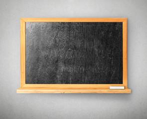 Blackboard on gray background