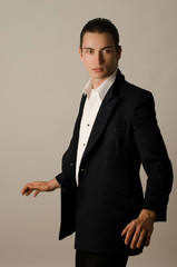 Caucasian handsome man with suit