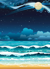 Night seascape.