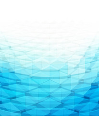 abstract blue geometric background with 3d effect