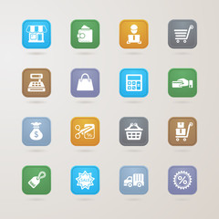 Finance and Shopping icons set