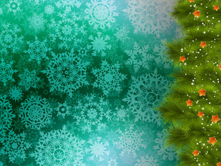 Christmas background with christmas tree. EPS 10