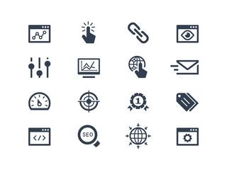 Seo and optimization icons